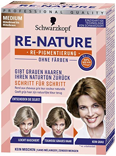 Schwarzkopf Re-Nature Re-Pigmentierung, Frauen Medium Stufe 0, 1er Pack (1 x 145 ml)