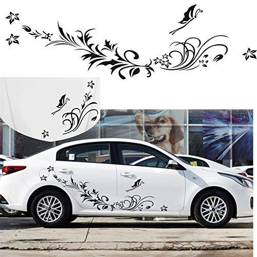 Semine 1 para Karosserie Aufkleber Auto Natürliche Blume Reben Libelle Auto Aufkleber Mode Auto Decor