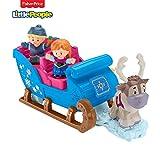 Fisher-Price Little People La Reine des Neiges Le traîneau de Kristoff avec 2 figurines et un renne, jouet pour enfant, 18 mois et plus, GGV30