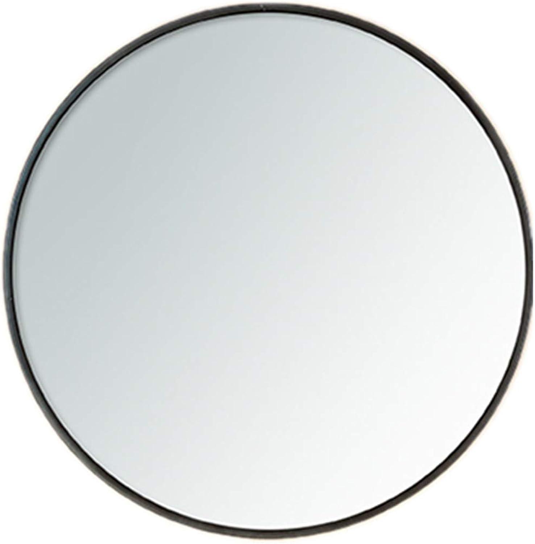 Round Wall Hanging Mirror ,Metal Framed Decorative Mirror,Ideal for Hallway, Living Room, Bedroom(Diameter 30-80cm,Black)