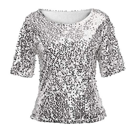 TEELONG - Angel-Hemden & T-Shirts für Damen in Silver, Größe L