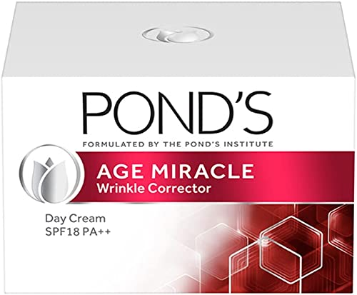POND'S Age Miracle Day Cream 50 g, SPF 18 PA++, Anti Aging Light Face Moisturizer to Reduce Lines & Wrinkles - With R...