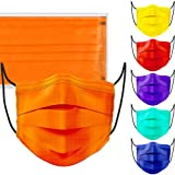 60PCS Disposable Face Mask Unisex Fashion Covering Extra Layer 6 Solid Colors Individually Sealed Nonwoven Skin-Friendly Breathable Comfortable for Men Women