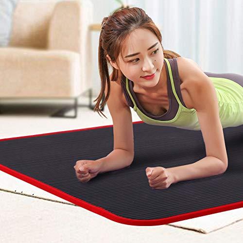 N / A Colchonetas de Yoga 183cm * 61cm 10MM Extra Gruesas Antideslizante para Fitness Pilates sin Sabor Gimnasio Almohadillas de Ejercicio con Vendajes 183x61x1CM