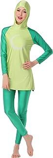 WOWDECOR Modest 2 Pieces Swimsuits for Women Girls Full Coverage Muslim Swimwear Burkini Hijab