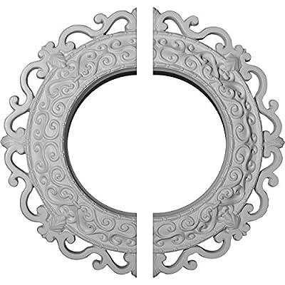 Ekena Millwork 13 1/4-Inch OD x 6 5/8-Inch ID x 1 1/8-Inch Orrington Ceiling Medallion