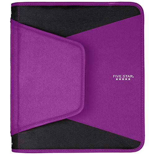 Five Star 1-1/2 Inch Zipper Binder, 3 Ring Binder, 3-Pocket Expanding File, Durable, Color Selected For You (28012) Photo #11