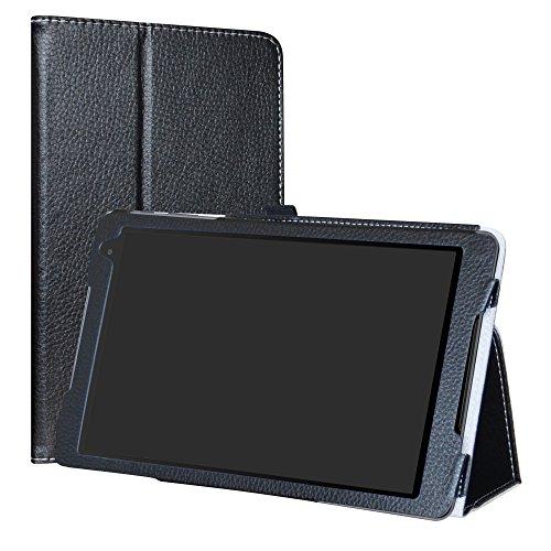 Labanema Alcatel A3 (10) 4G Funda, Slim Fit Carcasa de Cuero Sintético con Función de Soporte Folio Case Cover para 10.1' Alcatel A3 (10) 4G Tablet - Negro
