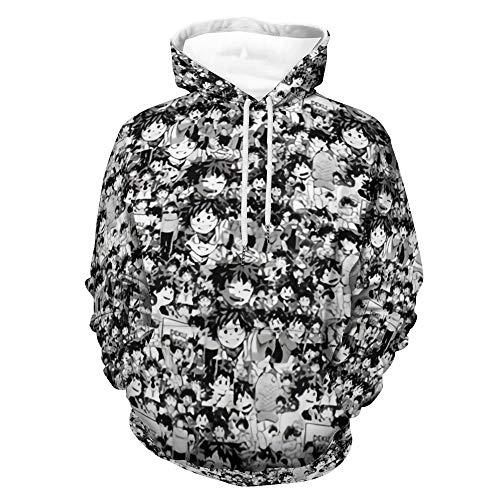 Einson Izuku Midoriya Collage My Hero Academia Anime Hoodie Pullovers Casual Cosplay Women Men Sweatshirt Tops White-style1 M