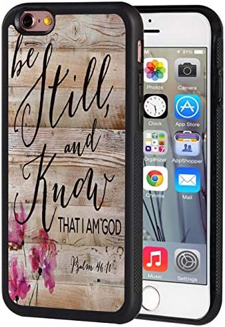 iPhone 5S Case iPhone SE Case Rustic Wood Quotes Bible Verse Psalm 46 10 Design Slim Impact product image