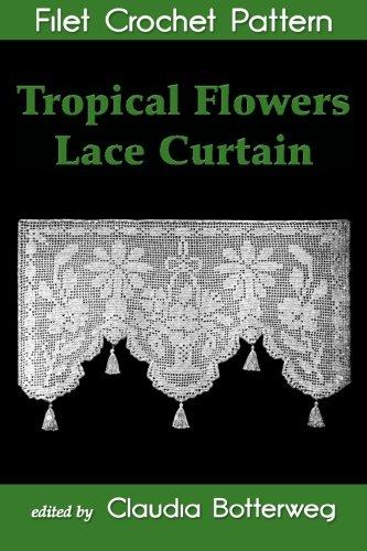 Tropical Flowers Lace Curtain Filet…