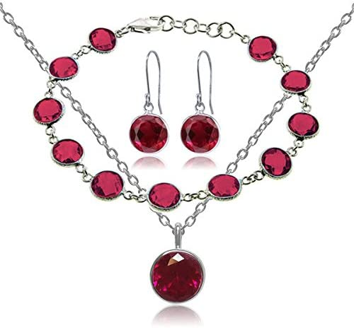 Gem Stone King Beautiful 25.00ctw 3 Silve Weekly update Created Ruby Max 41% OFF Piece 925