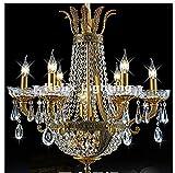 Guadang - Lámpara de techo de latón de lujo, de lujo, moderna, lámpara de color de latón para decoración del hotel Home LED AC 100% garantía