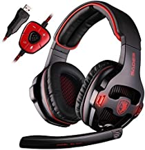 SADES SA903 7,1 Kanal Surround Stereo Gaming Headset Noise Cancelling Kopfhörer LED..