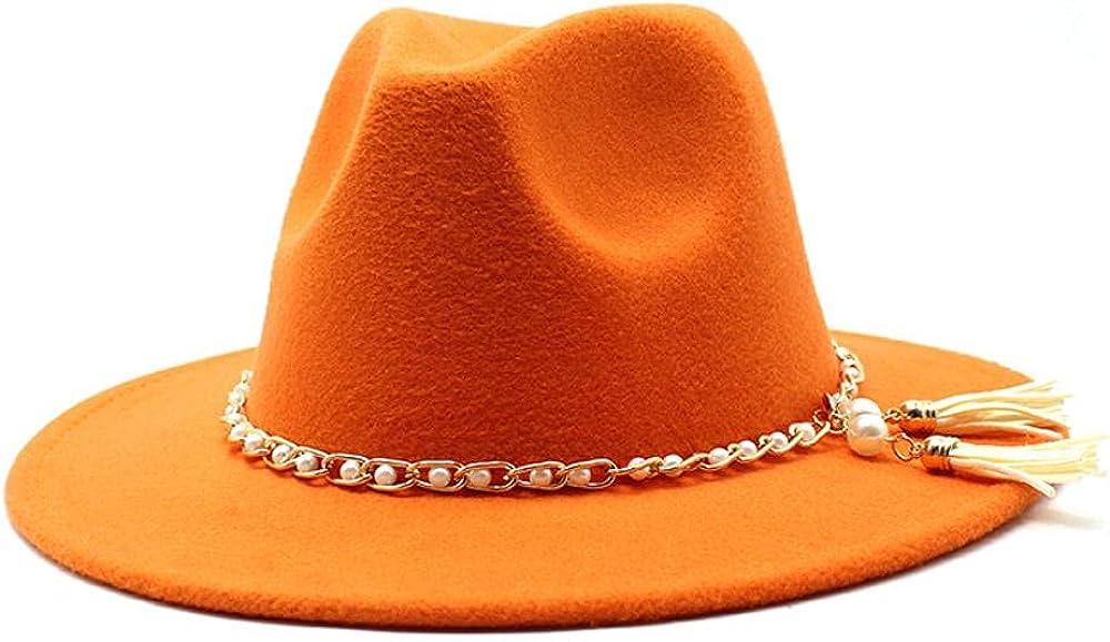 Women's and Men's Fedora Hat Classic Elegant Brim excellence Wide Classic Wo Panama