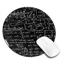 Mouse pad 数式計算式 円型マウスパッド パソコン テーブルクロス 周辺機器 かわいい柄 滑り止め 防水 おしゃれ オフィス用 ゲーム用