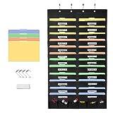 Magicfly Ordnungsmappe zum Aufhängen, Wand Organizer hängende Datei Organizer für Datei, Dokumente, Papier