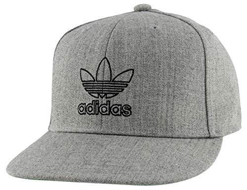 adidas Originals Herren Originals Signature Outline Snapback Cap, Herren, Mütze, Originals Signature Outline Snapback Cap, grau meliert, Einheitsgröße