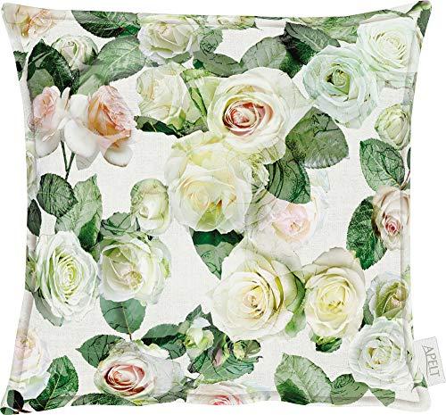 APELT Kissenhülle Summer Garden grün-weiß Größe 49x49 cm