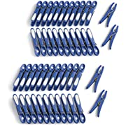 culiclean Non Slip Clothes/Laundry Pegs (48 pieces, classic blue-white