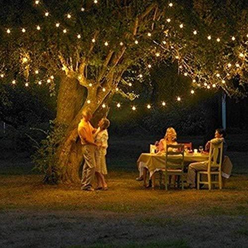 11,8 m de longitud 100 con energía solar LED Luz de Navidad, blanco cálido, para la fiesta y de la Navidad