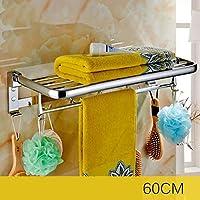 WEM 家庭用、ホテルのバスルームシェルフ、バスルームシェルフ、折りたたみ式タオルラック、バスルームハードウェアペンダントバスルームタオルラック