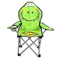 Marko Outdoor Camping Chair Kids Chidren Cartoon Animal Portable Lightweight Garden Beach Seat (Crocodile)