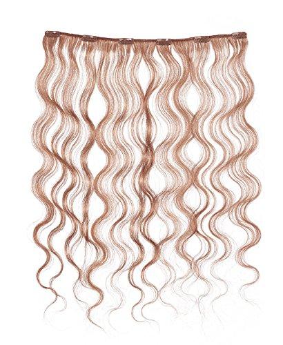 American Dream - A4/QFC12/18/130 - 100 % Cheveux Naturels - Douce Ondultation - Pièce Unique Extensions à Clipper - Couleur 130 - Cuivre Rouille - 46 cm