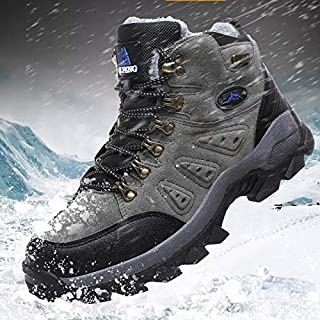 Newest Fresh Arrival Pro-Mountain Outdoor Hiking Comfortable Shoes for Men & Women,Add Fluff Hiking Boots Fashion oots,Walking,Training(EUR 36,Grey)