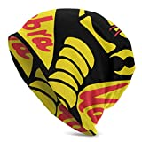 Khtti Beanie Cobra Kai - Gorro de Punto Unisex con puño Suave y diseño de Calavera,...