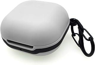 sciuU Skyddande silikonfodral kompatibelt med Samsung Galaxy Buds Live, hudskydd med den rostfria stötsäker säkra ringen f...