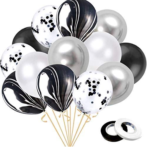 Danxian Ballonnen, 60 stuks, zwart, agaat latex, bonte ballonnen voor vrijgezellenfeest, bruiloft, baby, shower, verjaardag, feest, decoratie