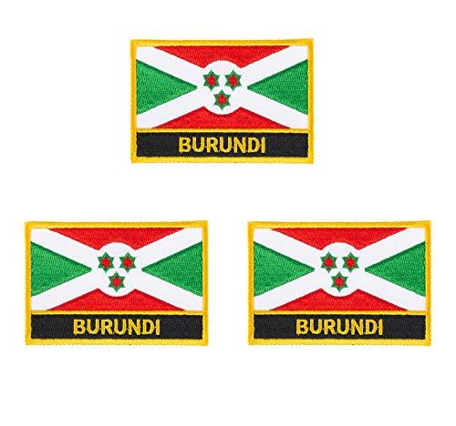 Bur&i bestickte Flaggen-Emblem, zum Aufbügeln oder Aufnähen, 3 Stück