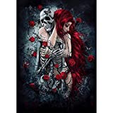 Adult Puzzle Jigsaw 1500 Pieces Naked Girl Hugging Human Skeleton Home Art Deco Painting