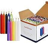 SaiXuan Candele 100 Colori Assortiti Spell Candele Piccolo antigoccia per Carillon, Magia, Congregazione, fiaccolata, Rituali, Decorazione per Feste (10 Colori) 4 Pollici di Altezza