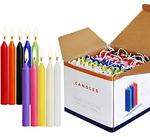 SaiXuan Candele 100 Colori Assortiti Spell Candele Piccolo antigoccia