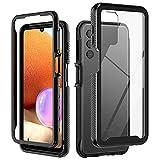 Nero Cover per Samsung Galaxy A32 5G Telefoni, Robusto Case | Transparent | Antiurto | Ant...