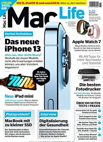 """Mac Life 11/2021 \""""Das neue Iphone 13\"""""""