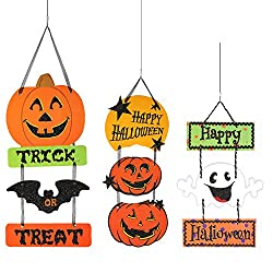 Not Scary Halloween Decoration Signs