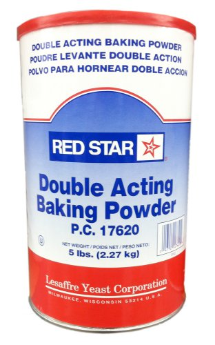Red Star DOUBLE ACTING BAKING POWDER 5LB. (2 Pack)