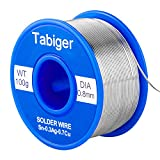 Tabiger Lead Free Solder Wire With Rosin Core For Electrical Soldering(0.8mm,100g)