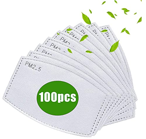 100PCS PM 2.5 Activated Carbon Filters,5 Layers Replaceable Anti Haze Filter Paper
