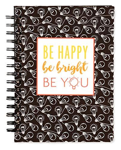 Monitor de objetivos Fitlosophy Fitspiration e diário de gratidão para crianças e adolescentes, Be Bright