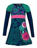 Desigual Mädchen Vest_HIEDRA Kleid, Blau (Azul Artico 5039), 152 (Herstellergröße: 11/12)
