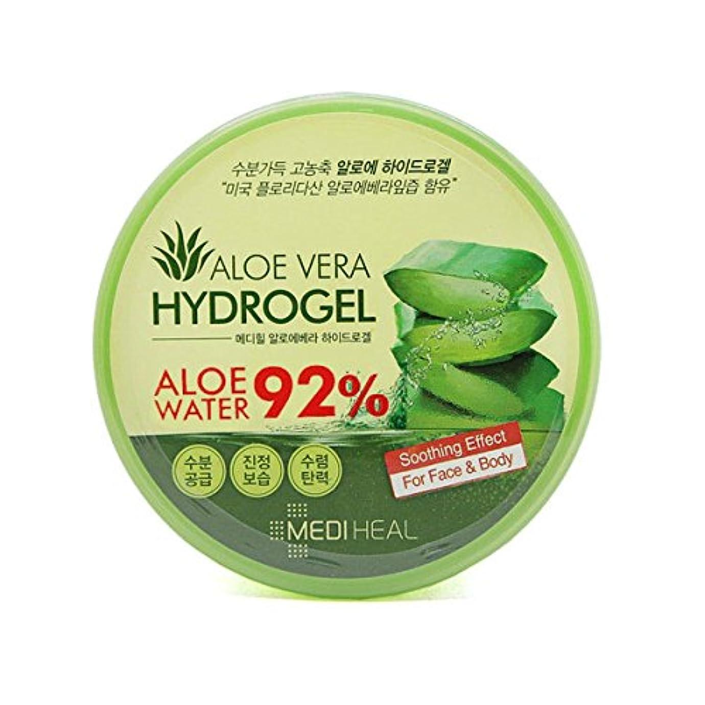 アクチュエータフェリー血色の良い[メディヒール/Mediheal] スージング&モイスチャー アロエベラ92%ヒドロゲル/スージングジェル/韓国コスメ/メディヒール正品 (海外直送)