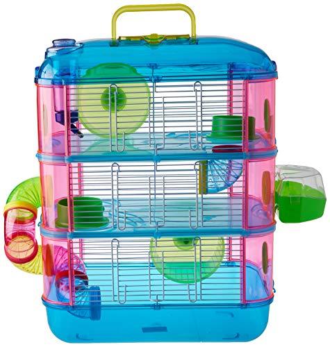 Arquivet Jaula roedores pequeños Gran Canaria - Casa para Hamsters, Ratoncillos, Animales pequeños - Plástico Resistente - Tres Pisos - 40 x 26 x 53 cm ✅