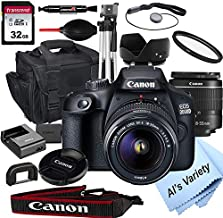 Canon 2000D EOS (Rebel T7) DSLR Camera with 18-55mm f/3.5-5.6 Zoom Lens + 32GB Card, Tripod, Case, and More (18pc Bundle)