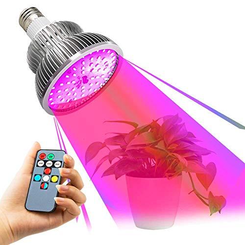 ZLM® LED-Leuchtmittel, 50 W, E27, Vollspektrum, 5 Beleuchtungsmodi, Wachstumslampe und Blütelicht, für Zimmerpflanzen, mit Fernbedienung Multimode – Grow Light