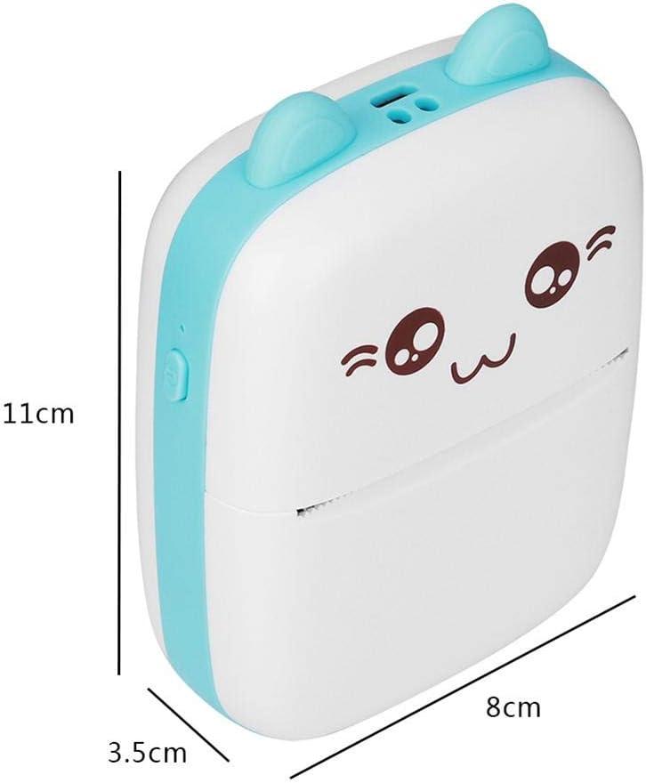 Fdit Stampante Fotografica Mini Blue Pink per Bluetooth Supporto per Telefono Cellulare Tascabile ad Alta risoluzione Wireless per Ricerca di argomenti 2#