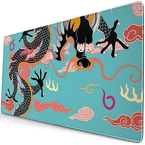Dragon Gaming Mouse Pad, erweiterte große Mausmatte Schreibtischmatte, Lange rutschfeste Mausmatten auf Gummibasis Tastatur-Mausmatte
